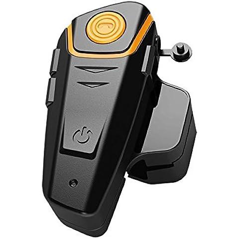 Veetop - Auriculares bluetooth / intercomunicador moto 1200M impermeable / interfono moto / cascos inalámbricos / cascos de moto (intercomunicación entre varios