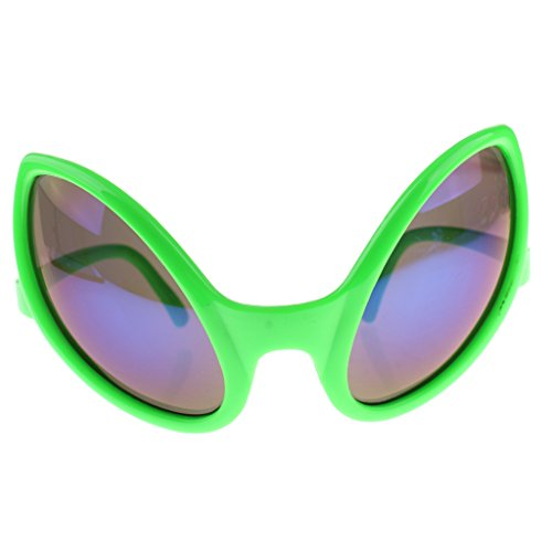 Gazechimp Lustige Alien-Sonnenbrille Spaßbrille Party Brille für Erwachsene Kinder - Grün