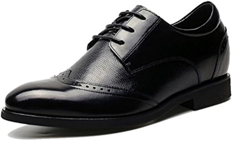 NIUMJ Hombres Verano Brock Casual Moda Negocios Transpirable Cómodo Exterior Zapatos De Cuero -