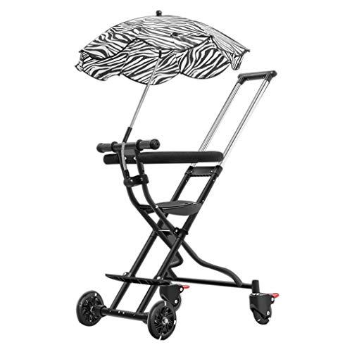 Baby trolley PIGE Tragbarer Kinderwagen - Faltbarer Outdoor-Kinderwagen, Zweiwege-Allradbremssystem mit Sonnenschirm.