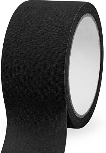 normani Textilklebeband Tarnband aus reißfestem Gewebe, 10 m Farbe Schwarz