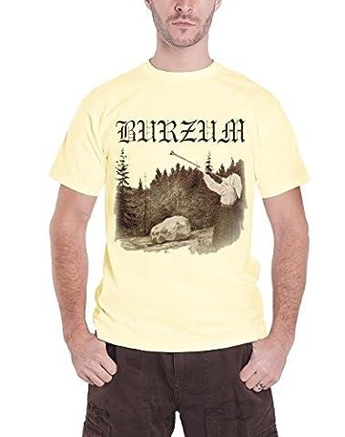 Burzum Filosofem Official Mens New Cream T Shirt All Sizes