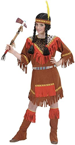 Widmann 58738 - Kinderkostüm Squaw, Gröߟe (Stiefel Indianer Kind)