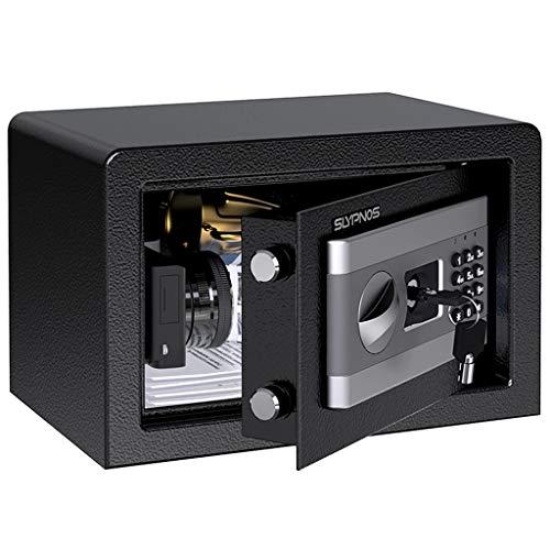 Tenga en cuenta: Todas las dimensiones se miden manualmente con una posible desviación de 1 cm. Abra la caja fuerte con la tecla de anulación cuando la reciba por primera vez. NO elimine la etiqueta del Número de serie de la caja fuerte que es el IDe...