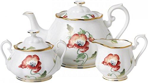 Royal Albert 100 Years of Royal Albert - 1970 Poppy Teapot Set