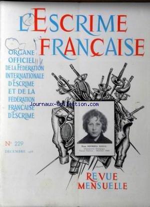 ESCRIME FRANCAISE (L') [No 229] du 01/12/1968 - ELENA NOVIKOVA (U.R.S.S.) par Collectif