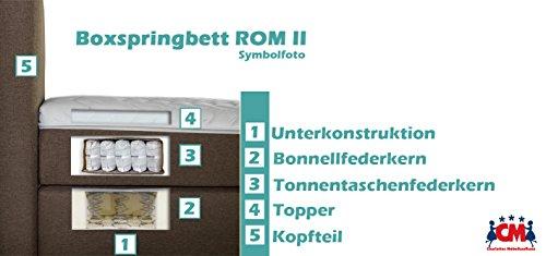 Boxspringbett ROM II Braun Stoff Handarbeit Bild 2*