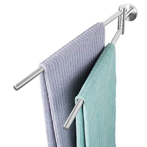 bremermann Bad-Serie Piazza - Handtuchhalter aus mattem Edelstahl, schwenkbar