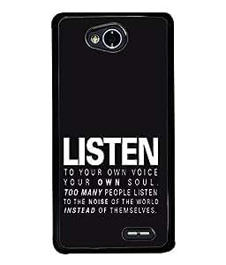 FUSON Designer Back Case Cover for LG L70 :: LG L70 Dual (Good Idea Great quote Success Quote)
