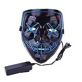 AimdonR Máscara de Halloween, Máscara de purga de luz LED, Festival de Cosplay, Disfraz de Halloween