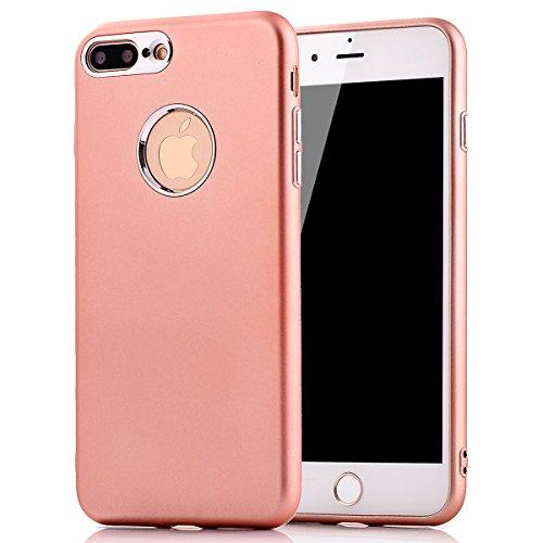iPhone 8Plus Handyhülle, Funkeln-Glänzend-Serie CLTPY iPhone 7Plus Taschen Gold Plating TPU Schale Case Dünne Crystal Silikon Schutzfall für Apple iPhone 7Plus/8Plus + 1 x Freier Stylus - Chinesisch R Rose Gold A