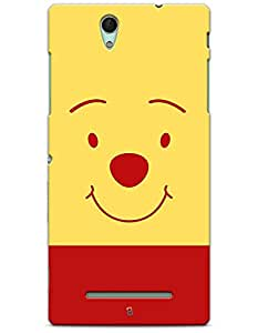Sony Xperia C3 Cases & Covers - Pooh Teddy Bear Face Case by myPhoneMate - Designer Printed Hard Matte Case - Protects from Scratch and Bumps & Drops.