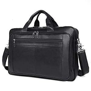 41HDqNy2MFL. SS300  - Bolso de cuero para hombres, bolso de negocios, 17 pulgadas, maletín de negocios, bolso de gran capacidad