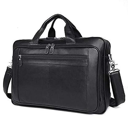 41HDqNy2MFL. SS416  - Bolso de cuero para hombres, bolso de negocios, 17 pulgadas, maletín de negocios, bolso de gran capacidad