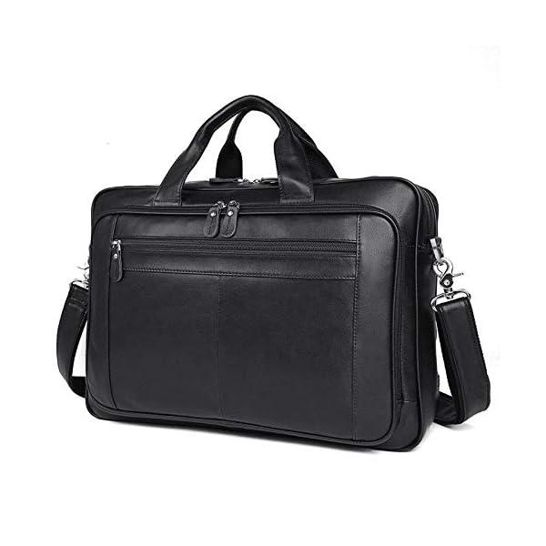 Bolso de cuero para hombres, bolso de negocios, 17 pulgadas, maletín de negocios, bolso de gran capacidad