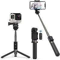 """Bastone Selfie TaoTronics Selfie Stick Tripode Estensibile Treppiedi in Alluminio con Telecomando Bluetooth 3.0, Batteria Ricaricabile, Compatibile con Smartphone Android / iOS, o Action Camera con Vite di Montaggio da 1/4"""""""