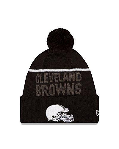 Cleveland Browns New Era 2015 NFL Sideline Sport Knit Hat Hut - Black/White