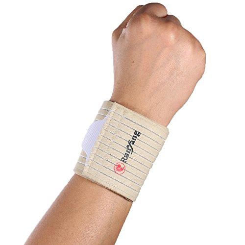 uniqueaur Einstellbare Sport Handgelenk Elastic Guard Unterstützung Bandage Tennis Displayschutzfolie grau grau one (Tennis-griffe Grau)