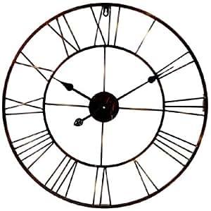 Silea 222 7386 horloge rouille m tal diam tre 60 cm cuisine amp - Horloge murale 60 cm ...