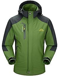 MAGCOMSEN Men's Waterproof Mountain Hiking Raincoat (MCS12320-54-Dark Green-XL)