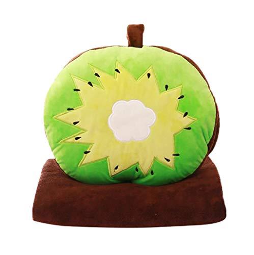 Kreativ Obst Serie Erdbeere,Kiwi,Ananas,Wassermelone, Orange Kissen Luft Konditionierung Decke Drei in einem Kissen Zierkissen Wurfkissen By Vovotrade -