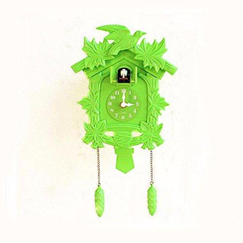 WERLM Persönlichkeit Design Home Decor Wall Clock Art Clock Cuckoo Wanduhr Uhr Garten Wohnzimmer Wanduhr Bell Uhr kreative Cartoon Kinder Zimmer Birdie Zeitmessung Silent Clock Asetzbar Ideal für Home Küche Büro Schulen Ideal für jedes Zimmer, D (Birdie Bell)