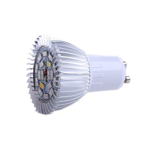 JENOR 18 LED GU10 Wachstumsleuchte für den Innenbereich, Hydrokultur, Vollspektrum, 18 W