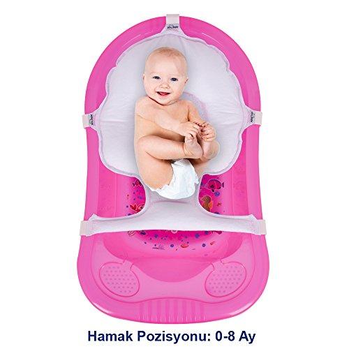 Baby Badesitz BadeNetz Multi-Funktionales Waschnetz Einlage Sevibaby Badewannensitz Weiß