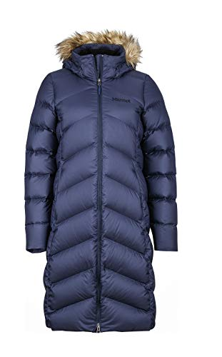Marmot Damen Wm's Montreaux Coat Daunenmantel , Blau (Midnight Navy), L (Down Marmot Von Womens Coat)