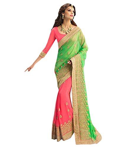 VINTAGE Girls cotton saree(VINTAGE OO5_multi colour_Freesize)
