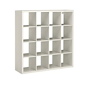 ikea expedit kallax shelving unit bookcase storage home furniture white 4x4 large square unit. Black Bedroom Furniture Sets. Home Design Ideas