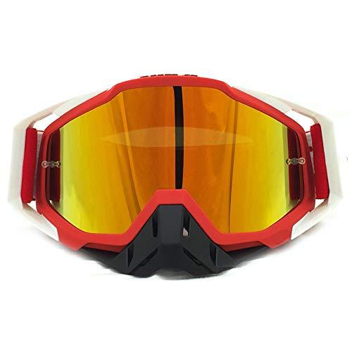 Yiph-Sunglass Sonnenbrillen Mode Ski Snowboardbrillen UV-Schutz Anti-Fog-Schneebrille Windwiderstand für Männer, Frauen (Color : 2, Size : One Size)