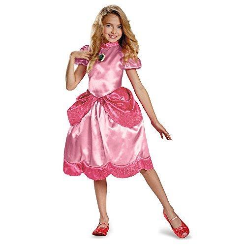 Mario Mädchen Kostüm - Disguise Nintendo Super Mario Brothers Princess Peach Klassisches Mädchen Kostüm