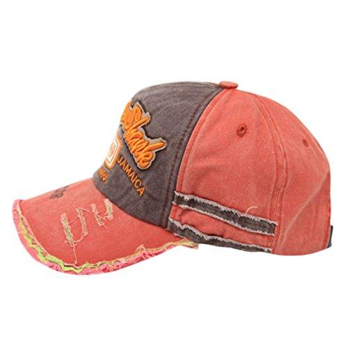 Hip Hop Baseball Cap Herren Damen,❤️ABsolute Männer Frauen Gestickte Brief Snapback Sommer Neue Baseballmütze Outdoor Kappen Mode Zufällige Hüte Sport Läuft Sonnenhüte (Orange)