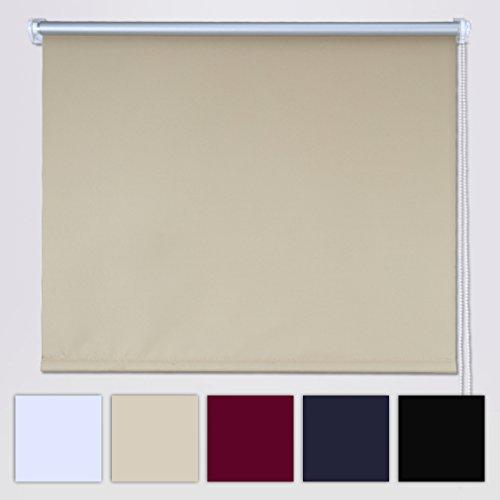 Shiny home tenda a rullo avvolgibile termica e isolante oscuranti per finestre 100x230cm (non serve il trapano)
