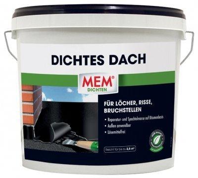 MEM Dichtes Dach, Bitumen Spachtelmasse, 5 kg