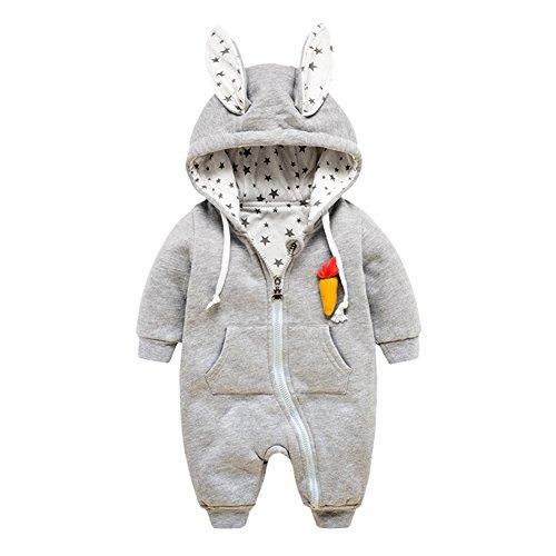 KVbaby mädchen und junge Baumwolle Winter Overall Bekleidung Kinder Niedlich Cartoon Kaninchen Strampler Bodysuit Babykleidung mit Kapuze