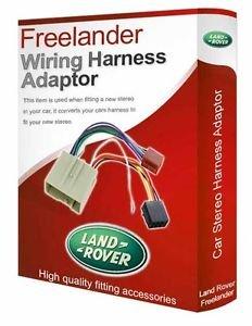 Adaptador de mazo de cables ISO de radio estéreo CD para Land Rover Freelander
