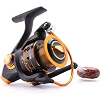 YAJIWU Spinning Carrete de la Pesca 12BB + 1 Bolas de rodamiento 500-9000 Serie Espiral de Metal bobinas de Hilado Barco Roca Regalos de Pesca (Color : Black, Spool Capacity : 2000 Series)