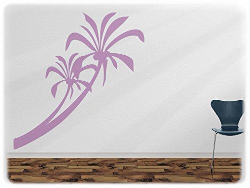 wandfabrik - Wandtattoo - 1 hochwertige Palme (Pa2) in flieder (70er Jahre Mode Australien)