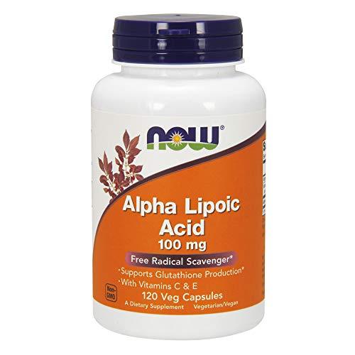 Now Foods I Alpha Lipoic Acid (Alpha-Liponsäure) 100mg I Vegetarisch I Vegan I 120 Kapseln
