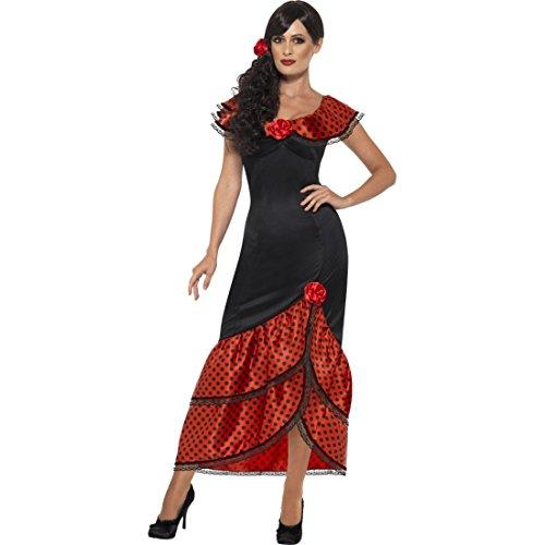 Spanierin Kostüm Flamencokleid Carmen XL 48/50 Spanierinnenkostüm Senorita Outfit Faschingskostüm Frauen Damenkostüm Flamenco