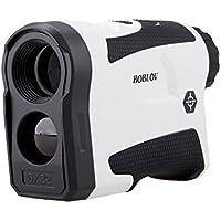 BOBLOV LF600G 600M Telémetro de golf color blanco Medidor de velocidad Impermeable durable Multiuso blanco Vibración / Bandera-lock/ 3.7V/800mAh/ 6X magnificación