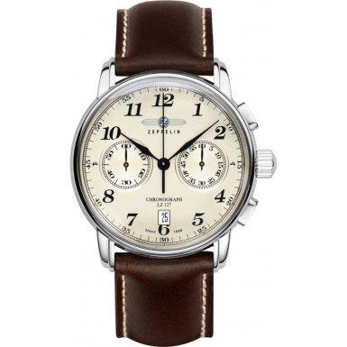 Zeppelin Montre bracelet Mixte Chronographe Quartz Cuir 7652–5