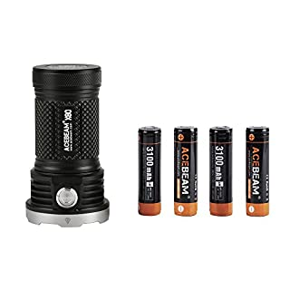 ACEBEAM X80 Torches LED Super Bright 25000 Lumens 5-color LED Searchlight Torch With Rechargeable Batteries