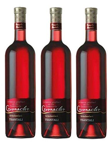 3x Grenache Rose je 750ml 12,5% Tsantali Roséwein Rosé Wein Griechenland trocken + Probier Sachet Olivenöl aus Kreta a 10 ml