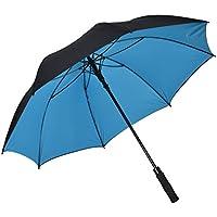 atree auto ombrello con apertura dritta 62pollici doppio strato antivento grande ombrello da Golf Outdoor con 8costole, resistente e abbastanza forte, Borsa per il trasporto inclusa, Blue