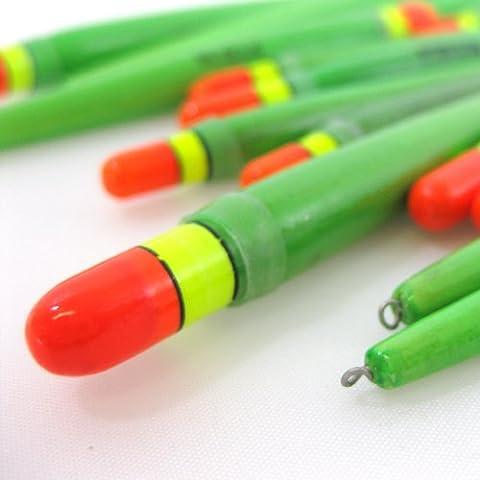 FTD Lot de 5flotteurs de pêche épais Tackle–chubber Trotting pour cours d'eau–Disponible en vert et noir (1G, 2G & 3G) vert Vert 5 x 1g