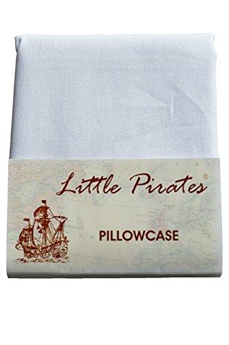 Foto de Funda de almohada para cuna de bebé (60 x 40 cm, 100% algodón), color blanco