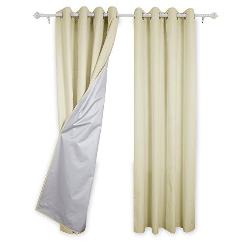 Deconovo tende termiche isolanti con occhielli per salotto moderno 140x245 cm beige 2 pannelli